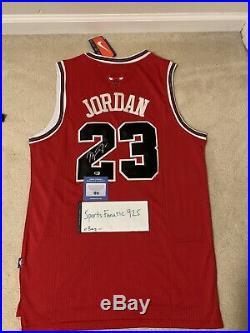 Michael Jordan Autographed Signed Red Bulls Vintage Jersey including COA