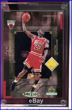 Michael Jordan Championship Game Floor Card Signed Autograph AUTO UDA Upper Deck