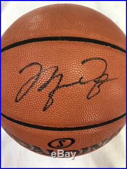 Michael Jordan Chicago Bulls Signed Autographed Spalding Basketball with COA