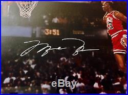 Michael Jordan Signed 16x20 Framed 1988 Gatorade Slam Dunk Championship UDA COA