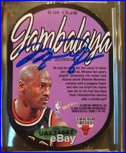 Michael Jordan Signed 1997-98 Skybox E-X 2001 Jambalaya AUTO BGS 8.5 UDA COA BAS