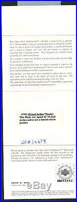 Michael Jordan Signed Autographed 16x20 Championship Photograph UDA Upper Deck