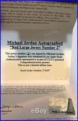 Michael Jordan Signed Autographed Uda Jersey Numbers Framed Display Upper Deck