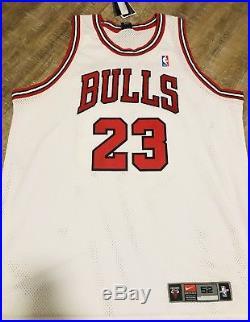 Michael Jordan Signed Nike Jersey UDA Upper Deck White Chicago Bulls
