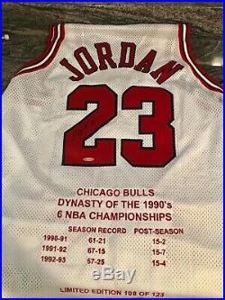 Michael Jordan Upperdeck Signed Jersey