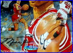 Michael Jordan signed autographed UDA 1995 1996 Chicago Bulls 72 Wins plate MINT