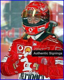 Michael Schumacher SIGNED F1 GLOVES helmet PHOTO PROOF + COA