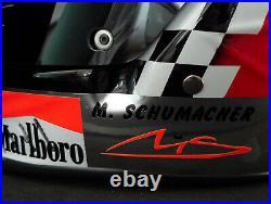 Michael Schumacher SIGNED Ferrari 1998 full-size Formula 1 helmet, full COA, VGC