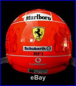 Michael Schumacher SIGNED Ferrari 2006 Shanghai F1 GP, Last Win Full-Size Helmet