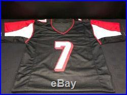 Michael Vick Atlanta Falcons Signed Black Custom Jersey Jsa Witness Coa