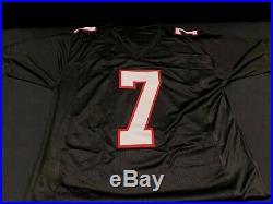 Michael Vick Atlanta Falcons Signed Throwback Custom Jersey Jsa Witness Coa
