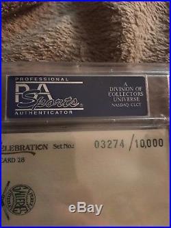 Mickey Mantle 1974 Hall Of Fame Yankee Signed Perez Steele Celebration Psa Dna