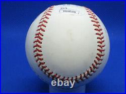 Mickey Mantle Autographed Rawlings Bobby Brown AL Baseball & Cube JSA LOA