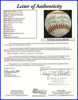 Mickey Mantle Ted Williams Carl Yastrzemski Triple Crown Signed Baseball JSA COA