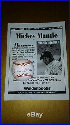 Mickey Mantle Ted Williams Joe Dimaggio Signed Baseball's COA GAI