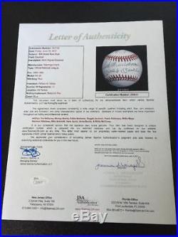 Mickey Mantle Ted Williams Willie Mays 500 Home Run Club Signed Baseball JSA COA