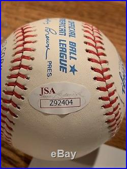 Mickey Mantle signed baseball JSA