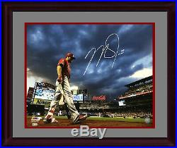 Mike Trout Angels signed 16x20 Citi Field photo framed autograph MLB Holo COA