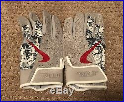 Mike Trout GAME USED 2018 BATTING GLOVES PAIR game worn SIGNED auto ANGELS