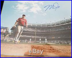 Mike Trout Signed Auto 16x20 Photo Anaheim Angels Mlb Hologram Authentic Coa
