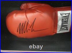 Mike Tyson Hand Signed Autographed Boxing Glove Custom Framed Shadowbox JSA COA