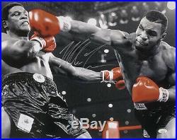 Mike Tyson Signed 16x20 Boxing Photo vs. Trevor Berbick JSA ITP