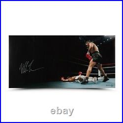 Mike Tyson Signed Autographed 18X36 Photo Knockout Upper Deck #/50 UDA