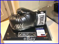 Mike Tyson Signed Everlast Boxing Glove JSA COA With UV PROTECTED CASE & NAMEPLATE