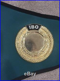 Mike Tyson Signed JSA COA Autographed IBO Championship Authentic Belt HOF Boxing