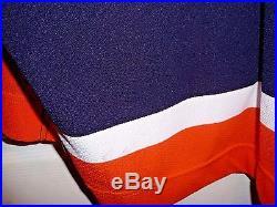 Miroslav Satan Game Worn Used Islanders Jersey Defunct Style Meigray Hand Signed