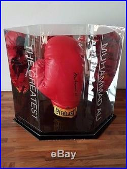 Muhammad Ali Signed Boxing Glove Autographed Memorabilia in Case