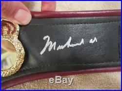 Muhammad Ali Signed Wba Mini Boxing Belt Beckett Loa. Gorgeous Signature