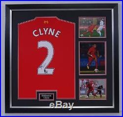 Nathaniel Clyne Signed & Framed Shirt Liverpool FC Genuine Autograph AFTAL COA