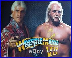 Nature Boy Ric Flair Hulk Hogan 16x20 Autograph WithCOA Signed Wrestling WWE WWF