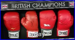 New FRANK BRUNO LENNOX LEWIS DAVID HAYE Anthony Joshua Autographed Signed Glove