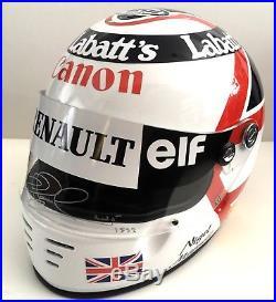 Nigel Mansell SIGNED Full Size 11 Helmet, Williams Formula 1 Red 5, COA, V RARE