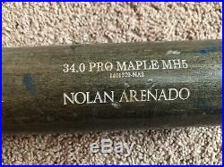 Nolan Arenado Game Used Autograph Signed Old Hickory Bat UNCRACKED