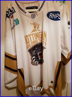 Nottingham panthers jersey fully signed 2018/2019 + SL45 Lings signature