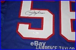 Ny Giants Lawrence Taylor #56 Signed Stat Jersey Hof 1999 Jsa Certified