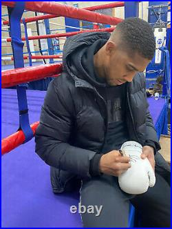 Officially Signed Anthony Joshua Signed Boxing Glove+Certificate of authenticity