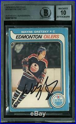 Oilers Wayne Gretzky Signed Card 1979 O-Pee-Chee RC #18 Auto Gem 10! BAS Slabbed