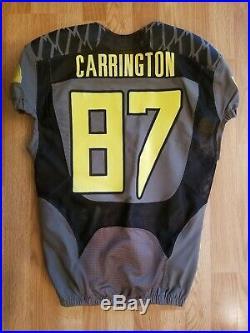 Oregon Ducks Darren Carrington II Signed Game Worn Used Jersey