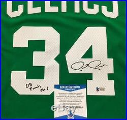 PAUL PIERCE Finals MVP Signed 2008 Celtics Swingman Jersey Beckett BAS COA
