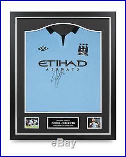 Pablo Zabaleta Signed Shirt Framed Manchester City Autograph Jersey Memorabilia