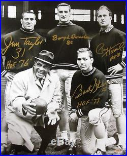 Packers BART STARR JIM TAYLOR PAUL HORNUNG & BOYD DOWLER Signed 16x20 Photo
