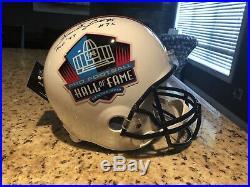 Packers FORREST GREGG Signed Replica HOF Helmet AUTO with HOF 77