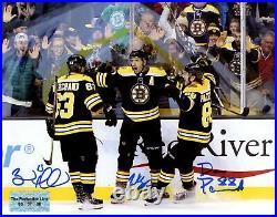 Patrice Bergeron Brad Marchand David Pastrnak Boston Bruins signed 16x20