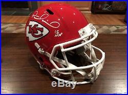 Patrick Pat Mahomes Signed Kansas City Chiefs Full Size Helmet NFL MVP Beckett