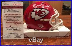 Patrick Pat Mahomes Signed Kansas City Chiefs Speed Mini Helmet Witness JSA