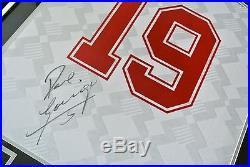 Paul Gascoigne SIGNED FRAMED Shirt Photo Autograph England Name #19 PROOF & COA